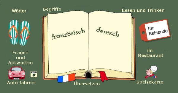französisch - deutsch - Übersetzung für Reise und Urlaub