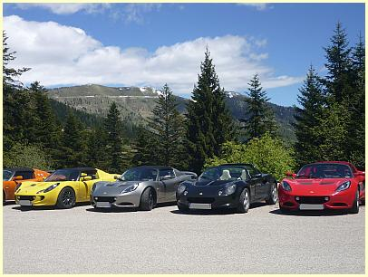Lotus Autos am Col de Turini