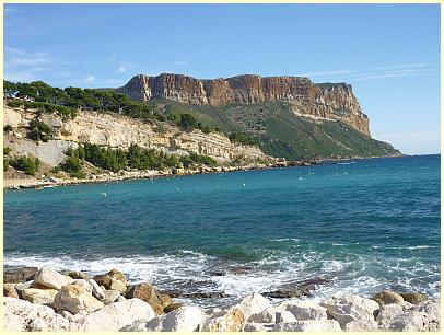 Cassis - Cap Canaille bei Mistral